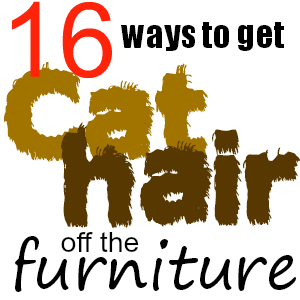 how to get rid of cat hair on furniture
