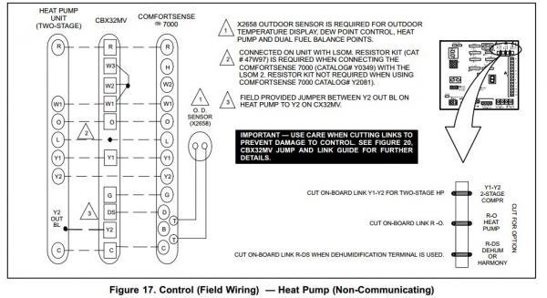 Lennox AHU/Heat Pump, Honeywell T-stat Wiring
