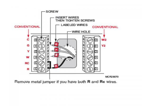 Honeywell Programmable Thermostat (RTH7600) Installation