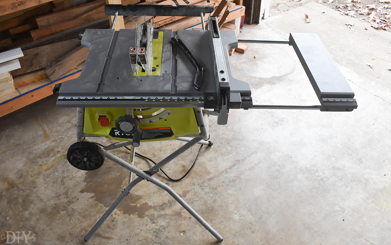 Ryobi 10 In Table Saw With Rolling Stand Do It Yourself Daddy