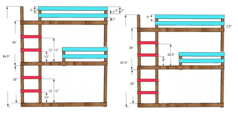 Triple Bunk Bed 8 Foot Ceiling Integralbook Com