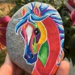 25 Fantastic DIY Painted Rocks Animals Horse for Summer Ideas (10)