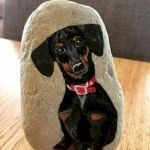 40 Favorite DIY Painted Rocks Animals Dogs for Summer Ideas (27)