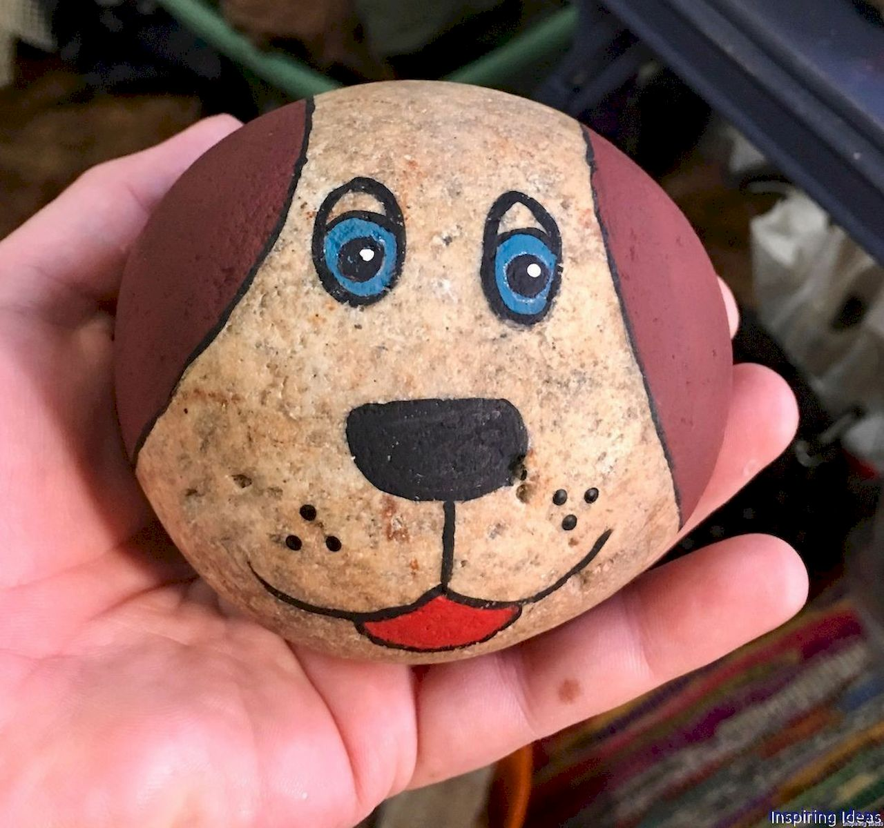 40 Favorite DIY Painted Rocks Animals Dogs For Summer Ideas (3)