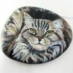 50 Best DIY Painted Rocks Animals Cats for Summer Ideas (1)
