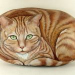 50 Best DIY Painted Rocks Animals Cats for Summer Ideas (11)