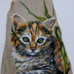 50 Best DIY Painted Rocks Animals Cats for Summer Ideas (28)