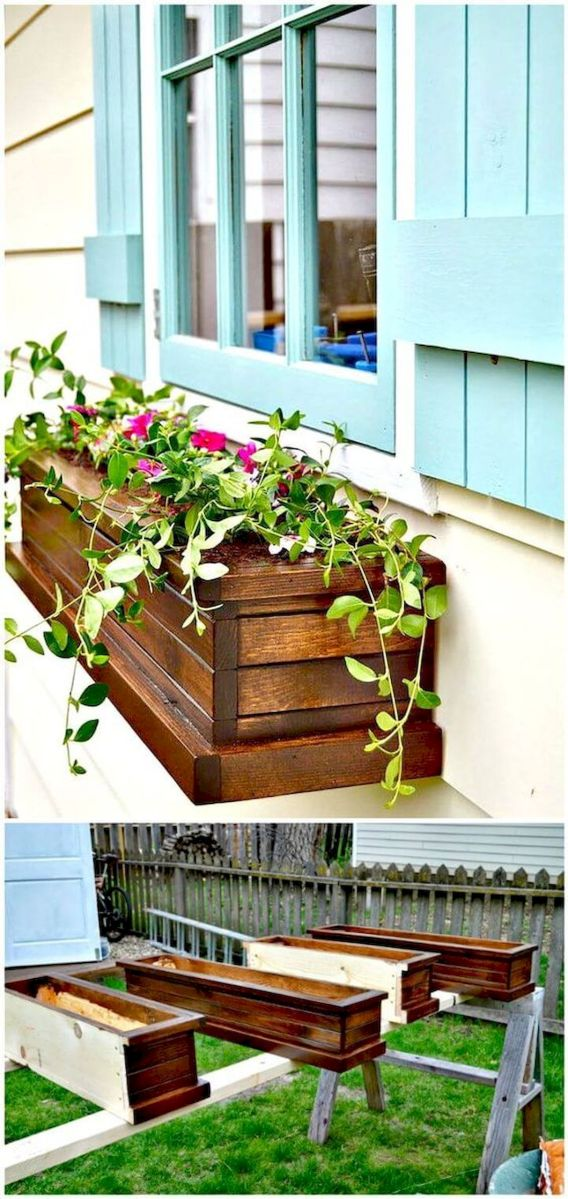 30 Awesome DIY Flowers Boxes Ideas (22)