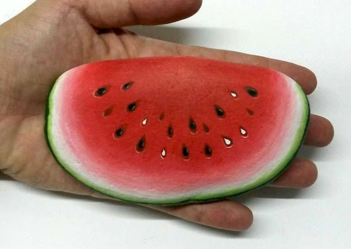 40 Awesome DIY Painted Rocks Fruits Ideas (3)