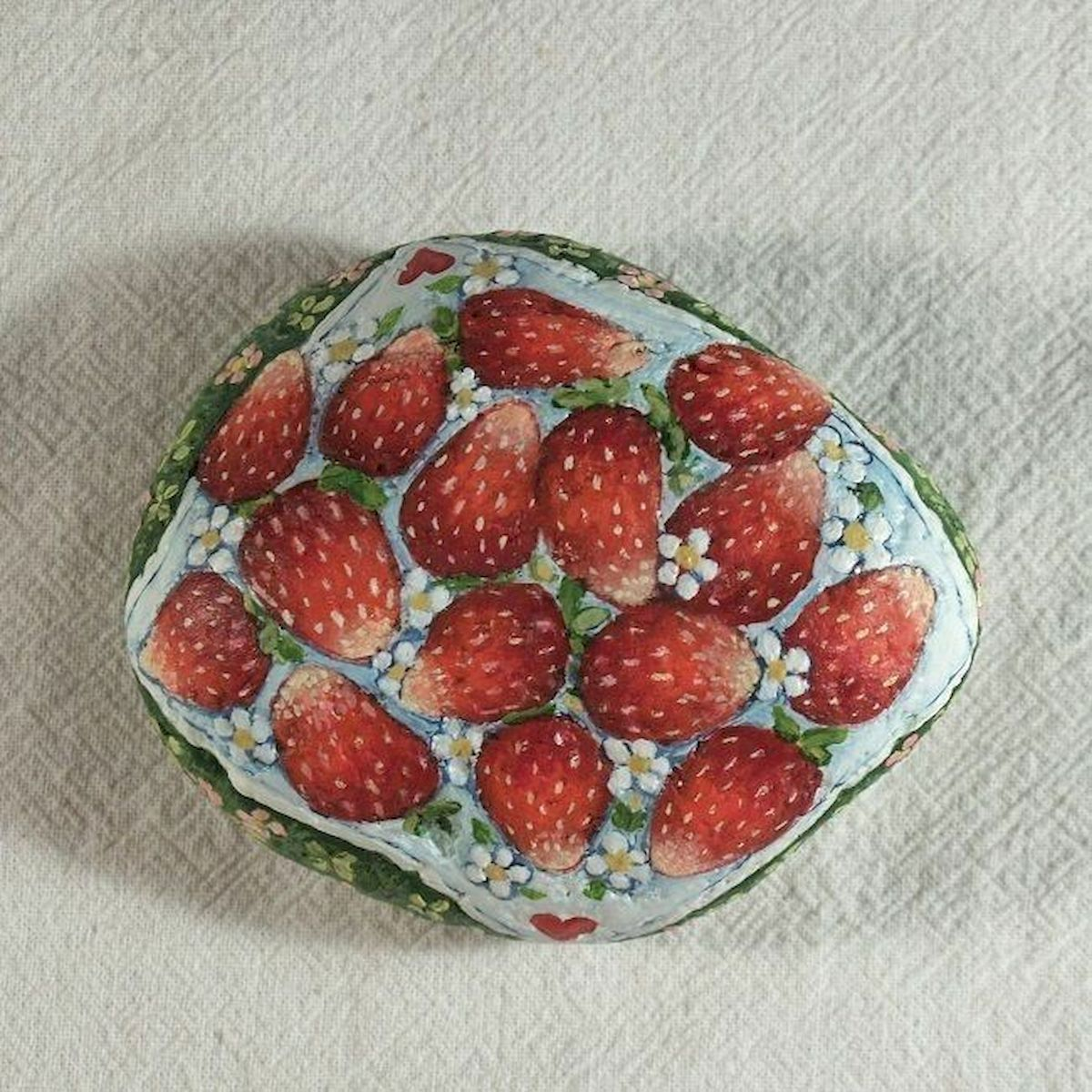 40 Awesome DIY Painted Rocks Fruits Ideas (36)