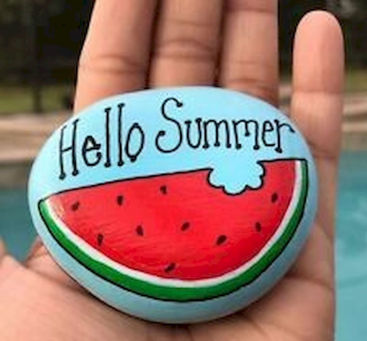 40 Awesome DIY Painted Rocks Fruits Ideas (37)