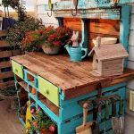 60 Awesome DIY Pallet Garden Bench and Storage Design Ideas (41)