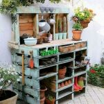 60 Awesome DIY Pallet Garden Bench and Storage Design Ideas (48)