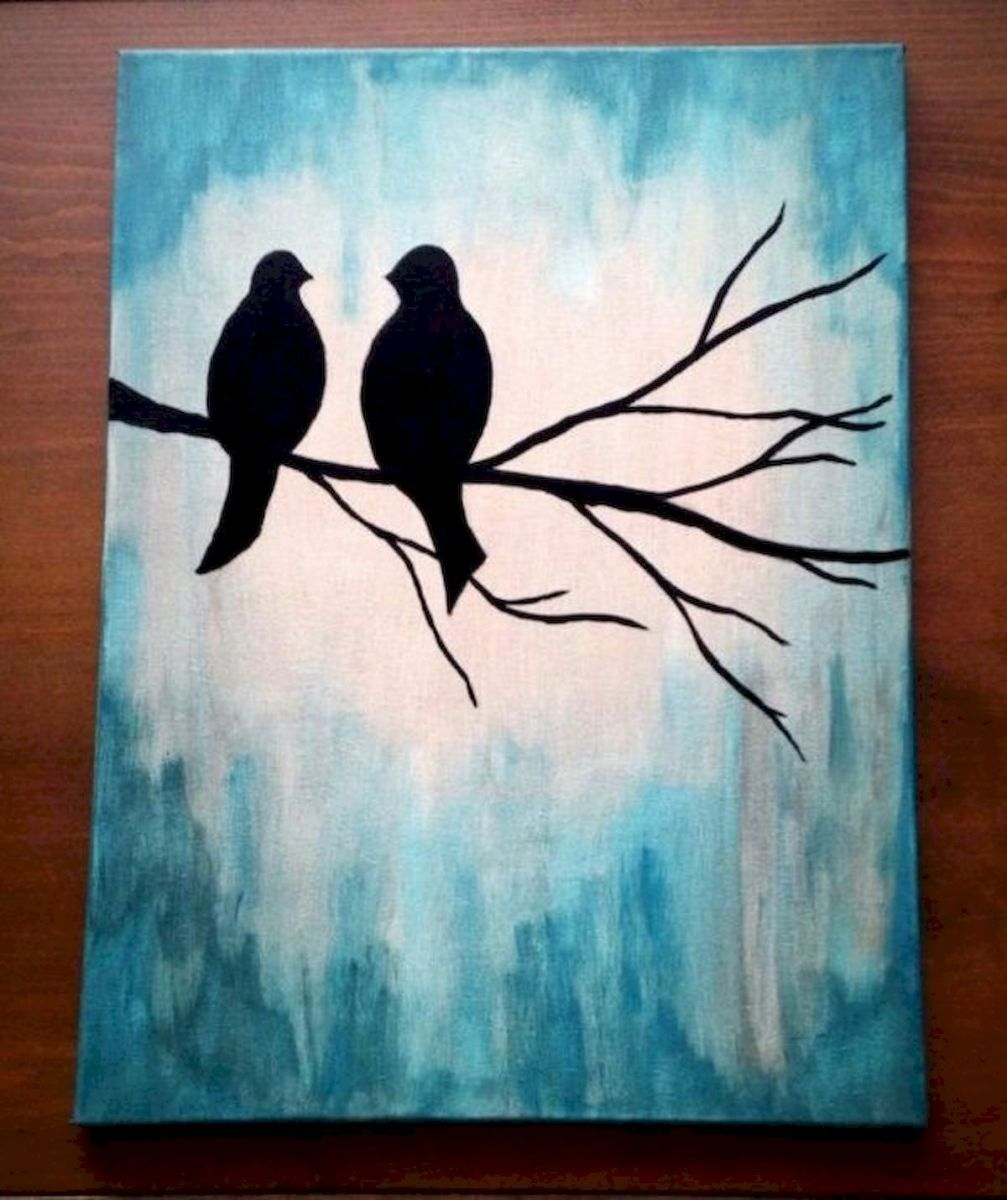 60 Easy DIY Canvas Painting Ideas for Decorate Your Home (30)