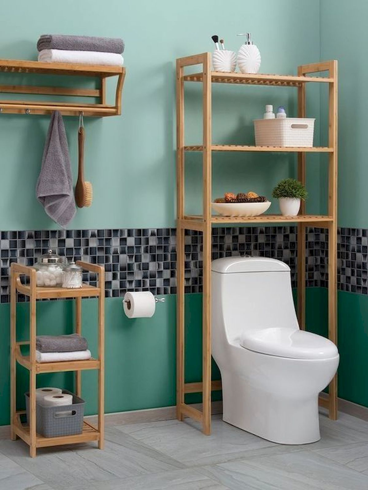 50 Best DIY Storage Design Ideas To Maximize Your Small Bathroom Space (7)