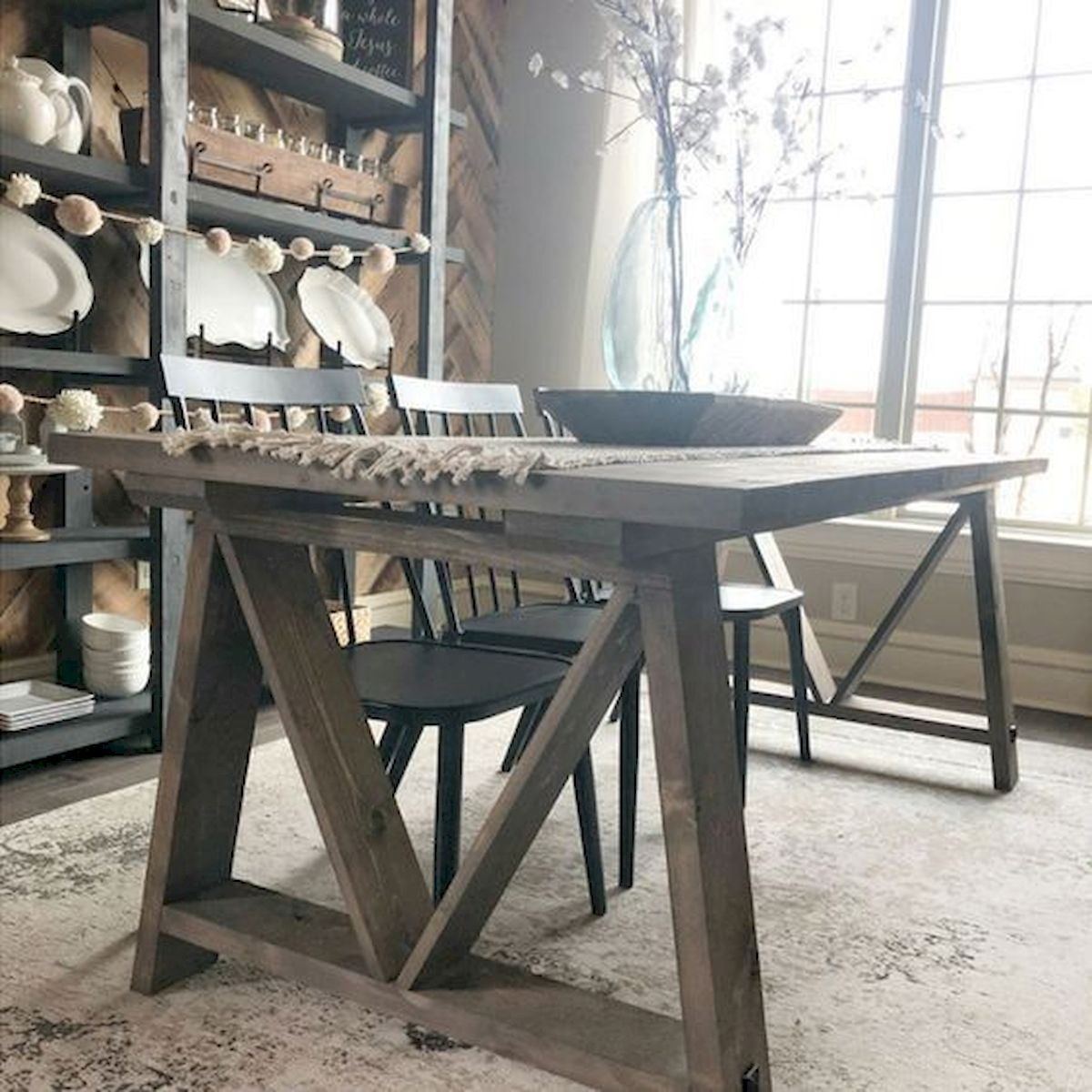 50 Nice DIY Furniture Projects for Dining Rooms Tables Design Ideas (19)