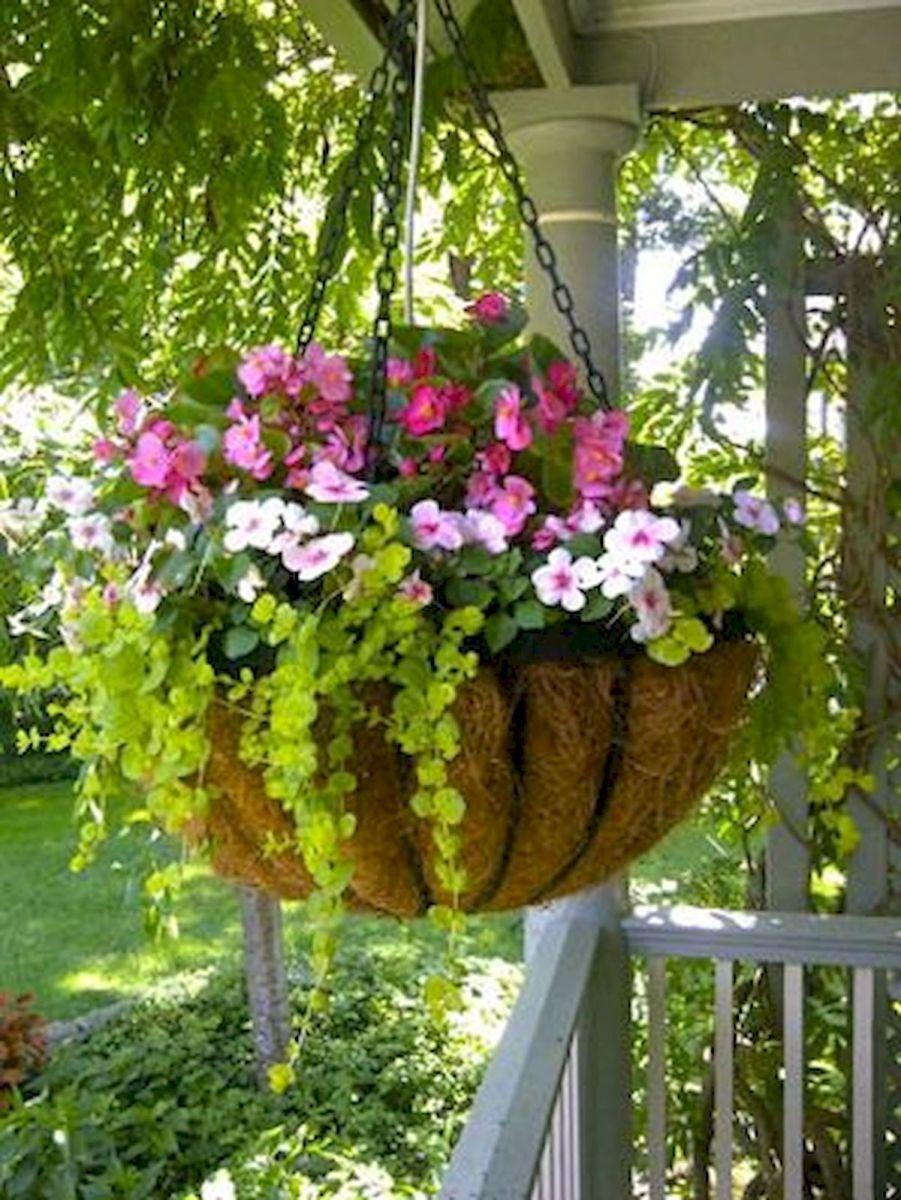 50 Awesome DIY Hanging Plants Ideas For Modern Backyard Garden (38)