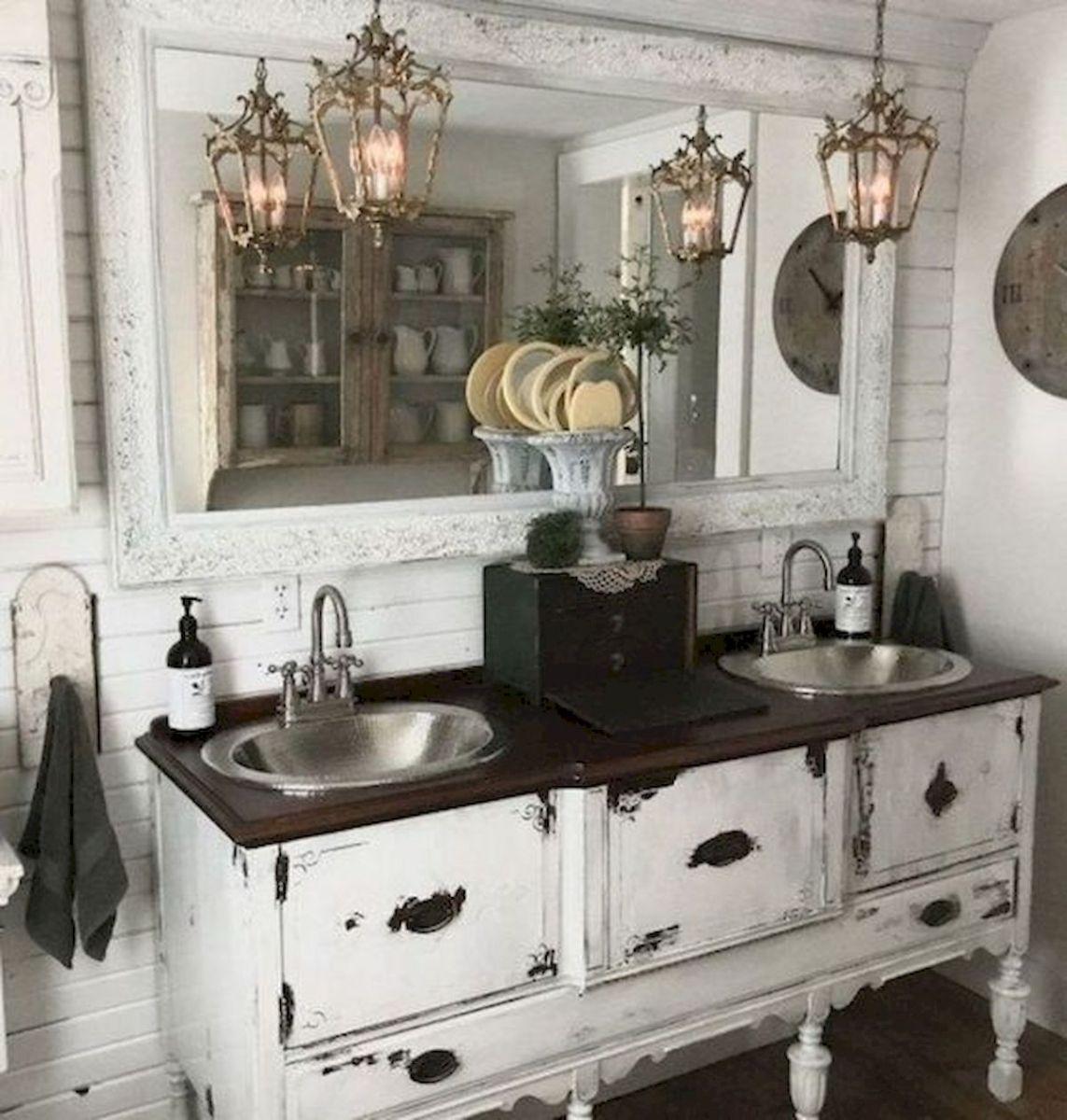 50 Fantastic DIY Modern Farmhouse Bathroom Remodel Ideas (36)