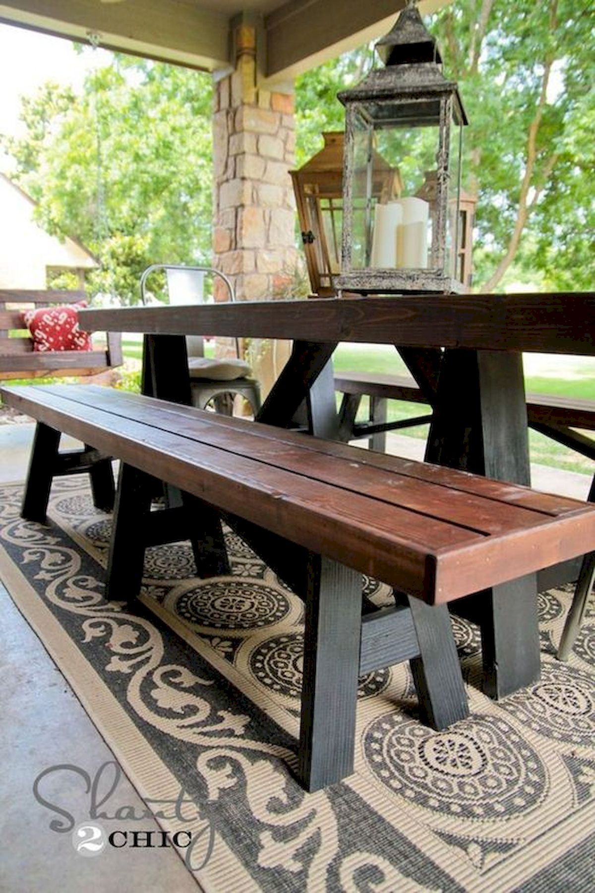 40 Awesome DIY Outdoor Bench Ideas For Backyard And Front Yard Garden (25)