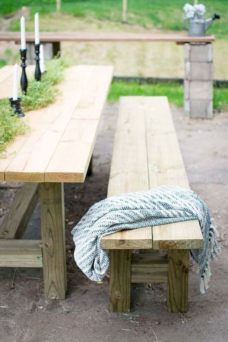 40 Awesome DIY Outdoor Bench Ideas For Backyard and Front Yard Garden (30)