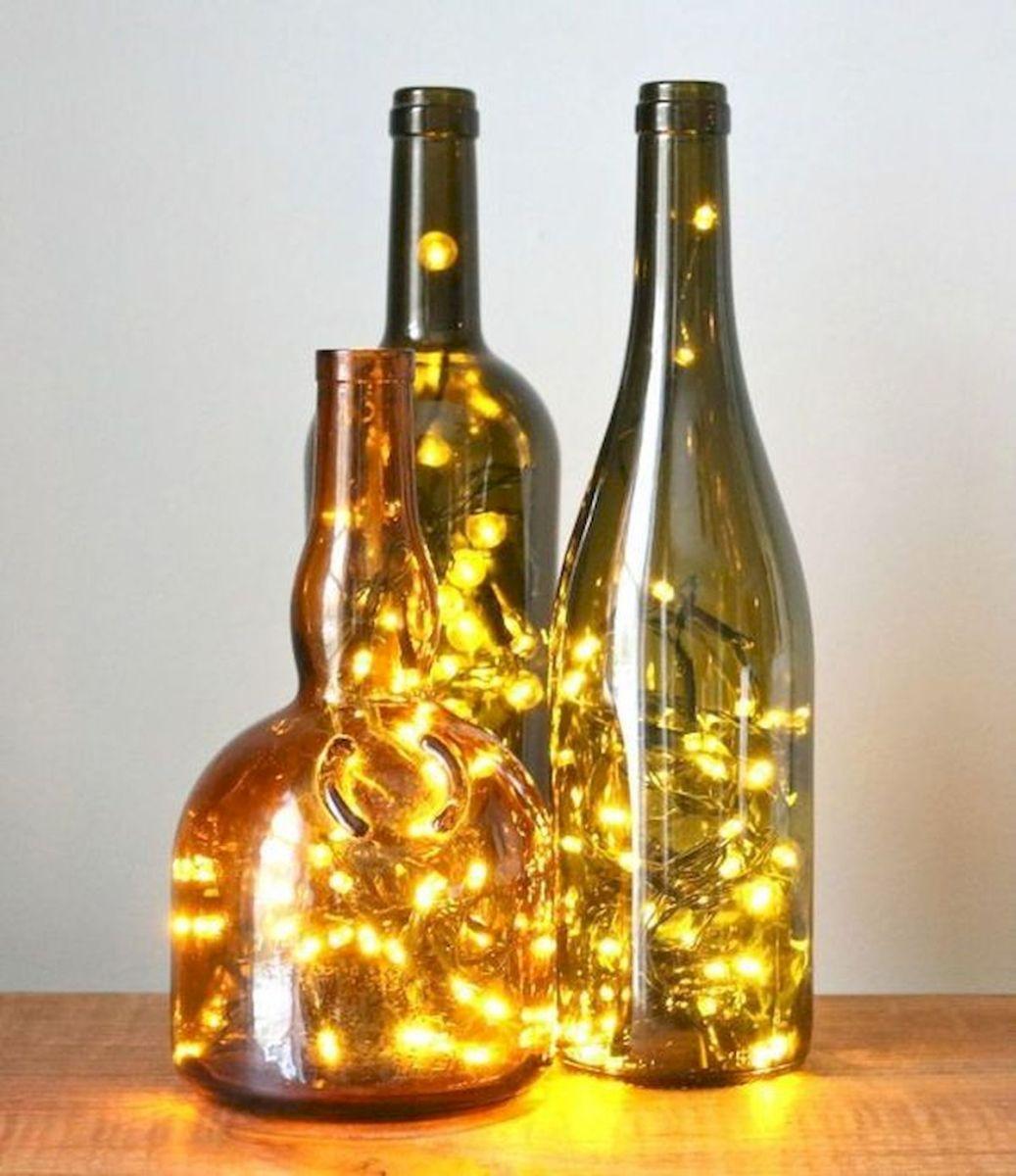 40 Fantastic DIY Wine Bottle Crafts Ideas With Lights (4)