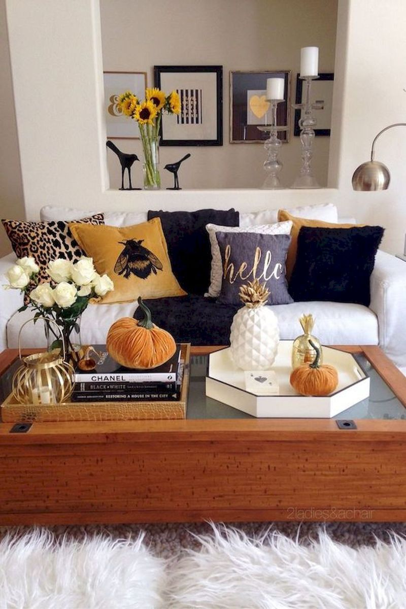 40 Gorgeous DIY Fall Decoration Ideas For Living Room (20)