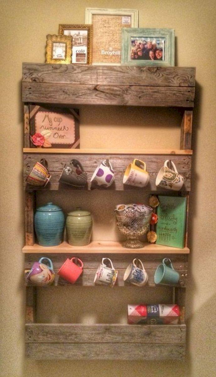 35 Easy DIY Wooden Pallet Mug Rack Ideas Everyone Can Do This (14)