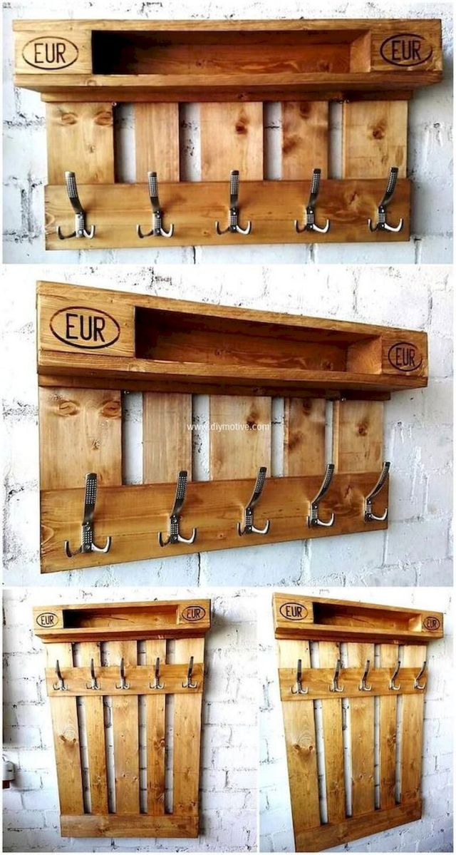 30 Fantastic DIY Hanger Ideas from Wooden Pallets (29)