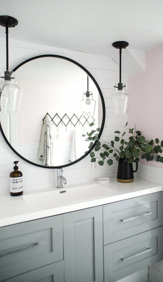 20 Best Farmhouse Bathroom Lighting Decor Ideas And Remodel (4)