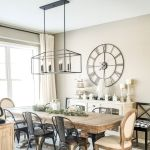 20 Best Farmhouse Dining Room Lighting Decor Ideas and Remodel (8)