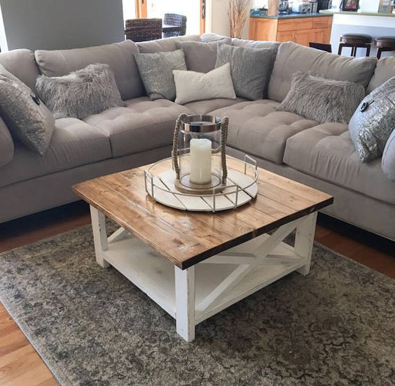 20 Stunning Farmhouse Coffee Table Decor Ideas and Remodel (9)