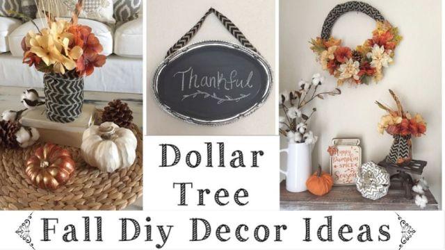 Adorable diy fall decor dollar tree