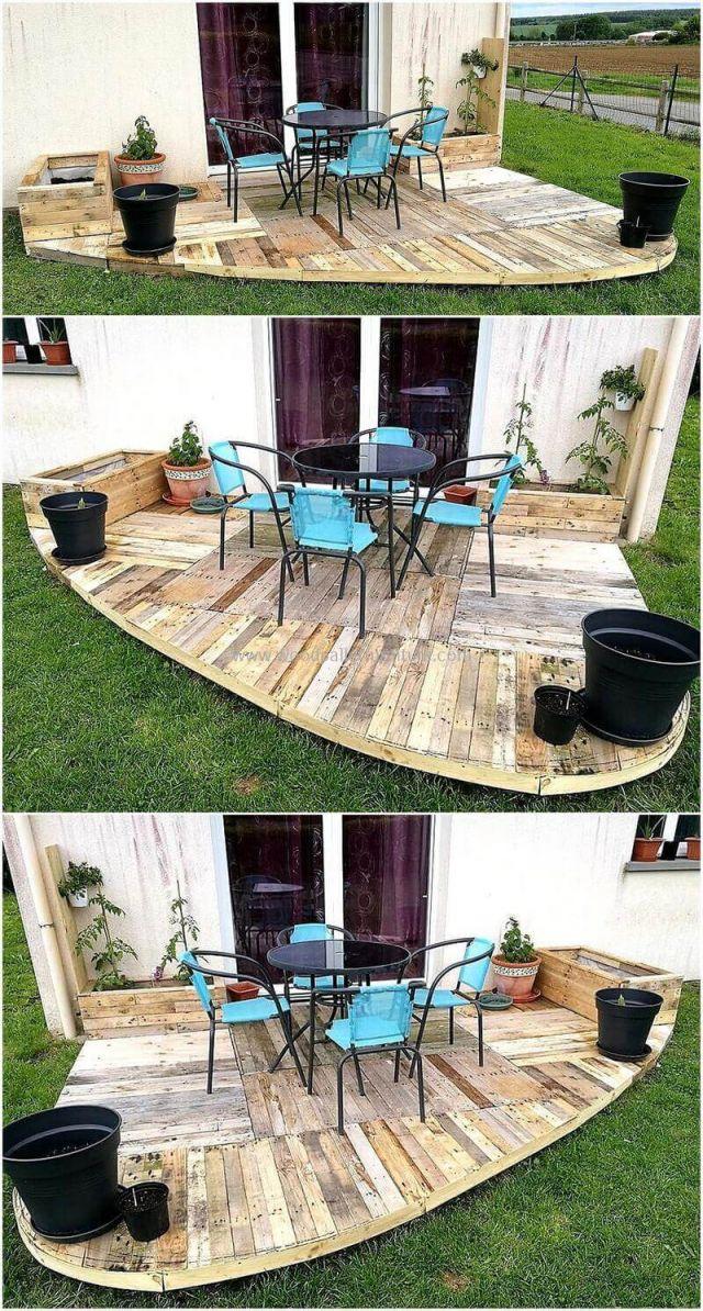 Cool wooden pallet ideas for garden