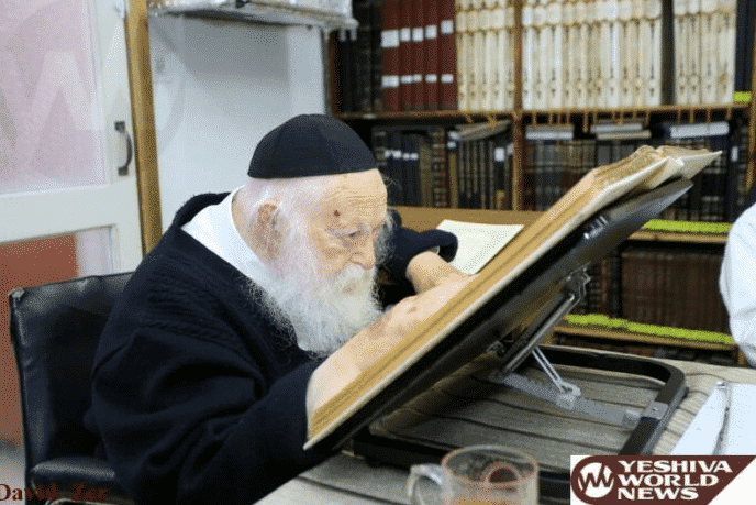 """Harav Chaim Kanievsky is Fearful of the Decline in Limud H'Torah: """"The Chovas Ha'shaah (Obligation) is to Increase Limud Torah"""" 1"""