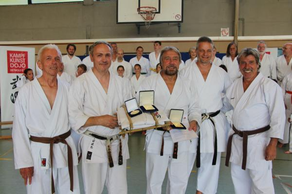v.l.: Herbert Richts, Ulrich Weß-Wesner, Wolfgang Pelz, Stefan Krause und Lothar Strolo
