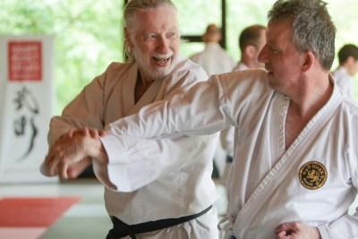 Partnerübung beim Lehrgang Fallschule für Kata Bunkai mit Jan Oertel