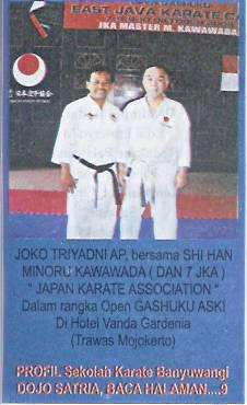 Guru Besar Karate : besar, karate, Satria, Banyuwangi, Sekolah, Karate, Pertama, Timur, Laman