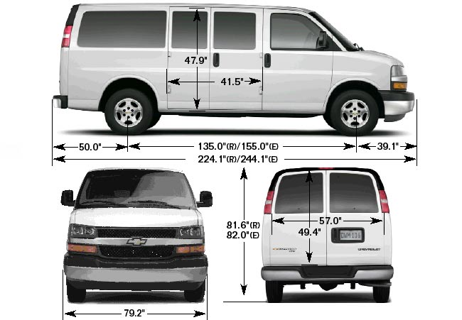 Chevy Express 2500 Cargo Van Interior Dimensions