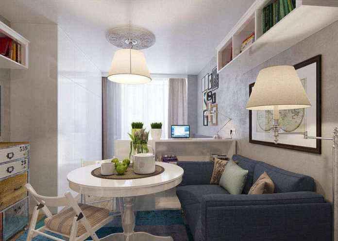 8-3-light-grayish-blue-studio-apartment-interior-design-in-modern-style | Как сделать удобной студию площадью всего лишь 25 квадратных метров? Узкая и маленькая студия