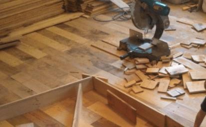 piso-madera-2 | Как сделать необычный пол из деревянных плашек с небольшим бюджетом