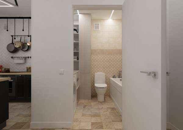 image6-56   Дизайн квартиры площадью 29 квадратных метров  в стиле минимализм