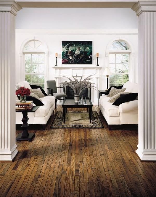 image12-7   30 идей темного деревянного пола в гостиной