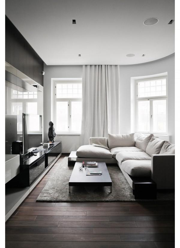 image9-19   30 идей темного деревянного пола в гостиной