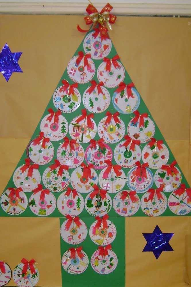 image23-3   Новогодние украшения из ненужных компакт-дисков