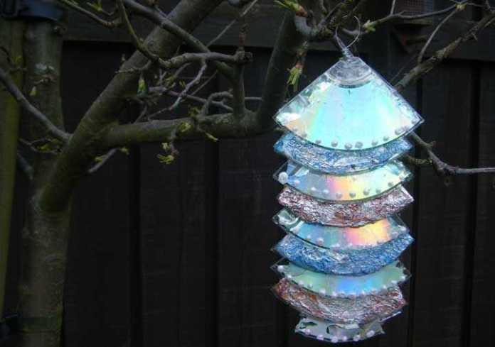 image27-1 | Новогодние и Рождественские украшения из компакт-дисков