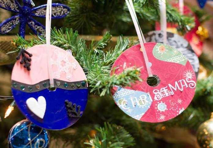 image30-1 | Новогодние и Рождественские украшения из компакт-дисков