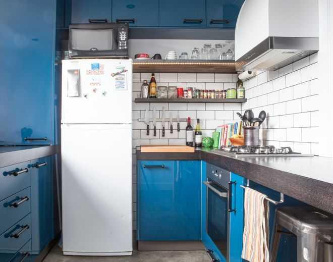 image7-17   9 примеров узких кухонь