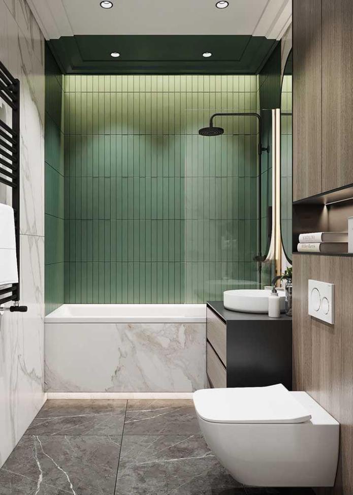 image25-7   Вдохновляющие идеи для маленьких ванных комнат