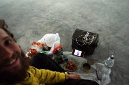 Pork, bread, nuts and Giannaras - haha