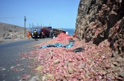 Someone wants an onion?? (During my 3000 km in Peru I must have seen more than 10 post-accident scenes, like this